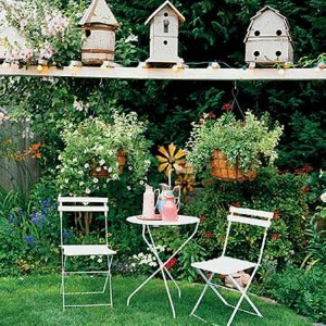 Recycled Wooden Birdhouses Garden Decorating