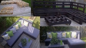 Recycled Wooden Pallet Outdoor Furniture