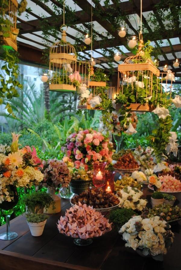 Repurposed Bird Cages Planter Patio Decor