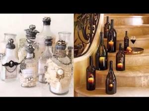Repurposed Bottles Decorating