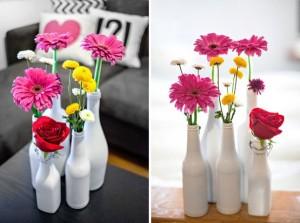 Repurposed Glass Bottles Decor