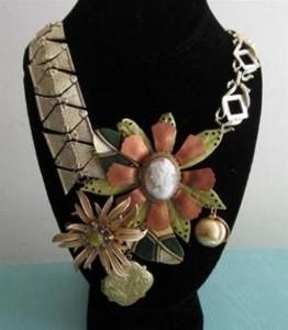 Repurposed Neck Jewelry Necklace