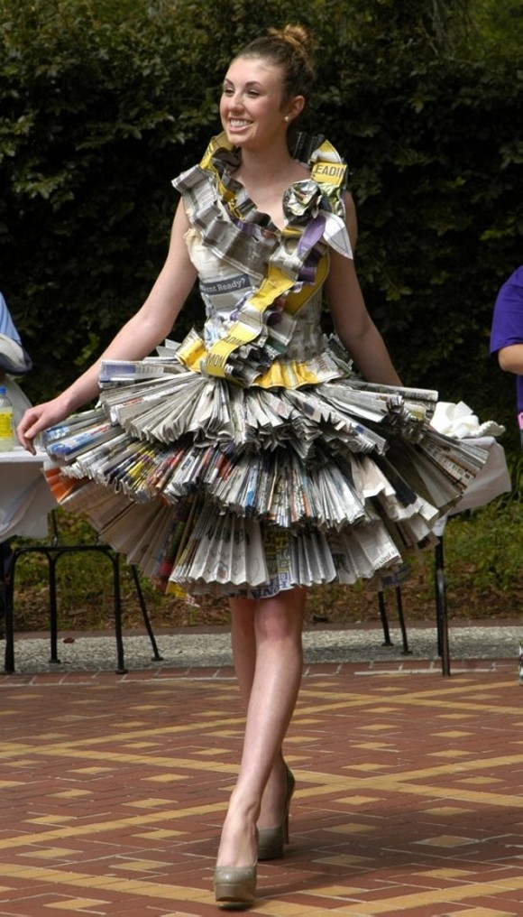 Reuse Newspaper Dress