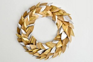 Reuse Paper Wreath