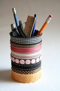 Tin Cans Pencil Holder