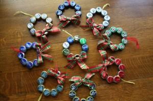 Upcycled Bottle Caps Christmas Decor Crafts