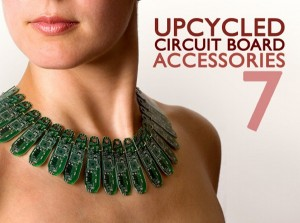Upcycled Circuit Board Accessories