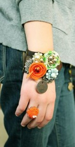 Upcycled Fabrics Jewelry Bracelet