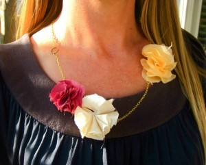Upcycled Fabrics Jewelry Flowers