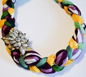 Upcycled Fabrics Jewelry Necklace