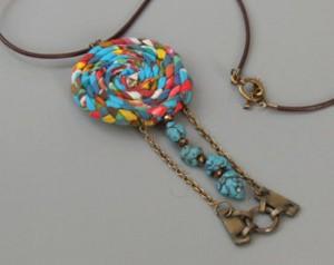 Upcycled Fabrics Jewelry Necklace Ideas