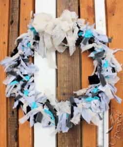Upcycled Fabrics Wreath