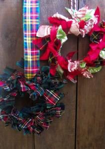 Upcycled Fabrics Wreath for Wall decor