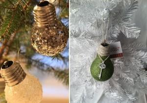 Upcycled Light Blub Christmas Decor