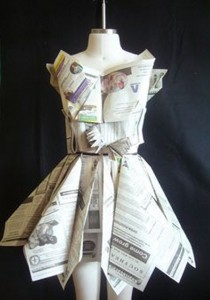 Upcycled Newspaper Dress