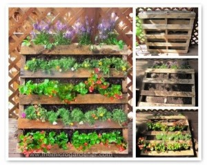 Upcycled Pallet Garden Planter