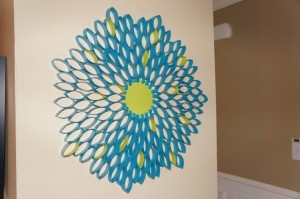 Wall Decor from Recycled Toilet Paper Rolls