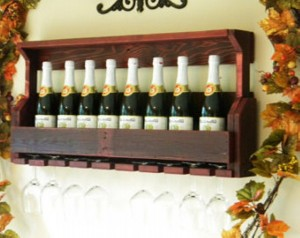 Wine Rack Made from Recycled Wood
