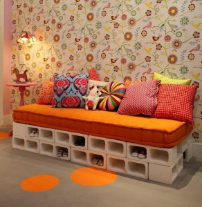 Concrete Blocks Upcycled Modren Furniture