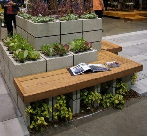 Concrete Blocks Upcycled Modren Furniture Bench