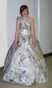 DIY Recycled Newspaper Dress