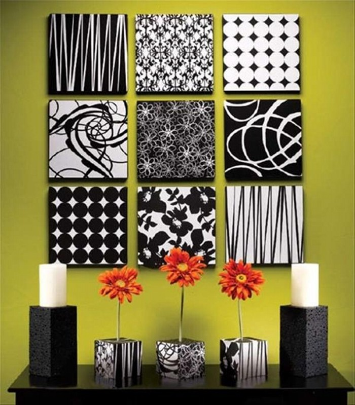 DIY Recycled Styrofoam Wall Decor