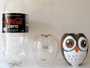 DIY Recycled Plastic Bottle Owl