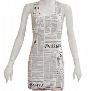 DIY Sleeve Less Newspaper Dress