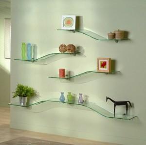 Modern Glass Wall Shelves