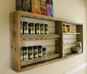 Pallet Kitchen Shelves & Racks