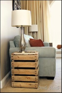 Reclaimed Wooden Pallet Side Tables
