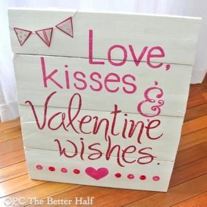 Pallet Valentines Day Decor