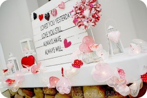 Pallet Valentines Day Decorating