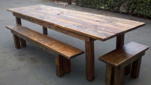 Reclaimed Wood Dining Table Idea