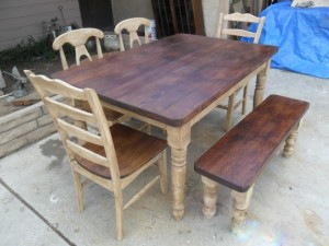 Reclaimed Wood Furniture Dining Table