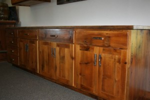 Reclaimed Wood Kitchen Cabinets