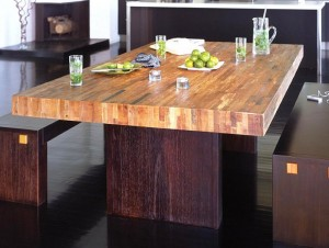 Reclaimed Wood Modern Style Dining Table