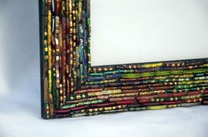 Recycled Bangles Picture Frame Art