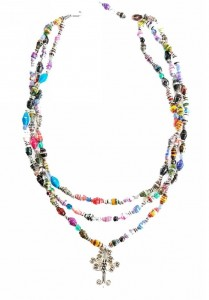 Recycled Beads Necklace