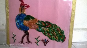 Recycled Broken Bangles Peacock
