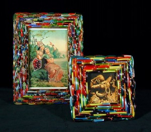 Recycled Broken Bangles Picture Frame Art