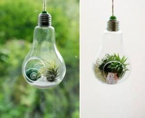 Recycled Bulbs Decor