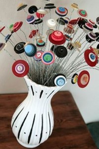 Recycled Button Crafts