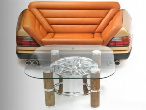 Recycled Car Part Furniture