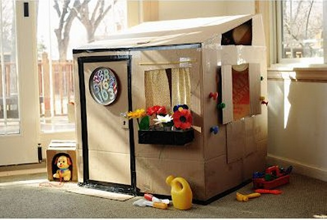 Recycled Cardboard Playhouse