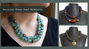 Recycled Glass Beads Jewelry