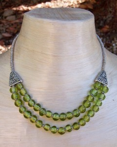 Recycled Glass Beads Necklace