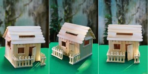 Recycled Ice Cream Sticks Kids House