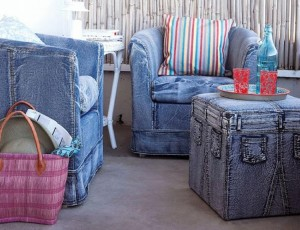 Recycled Jeans Sofa Cover