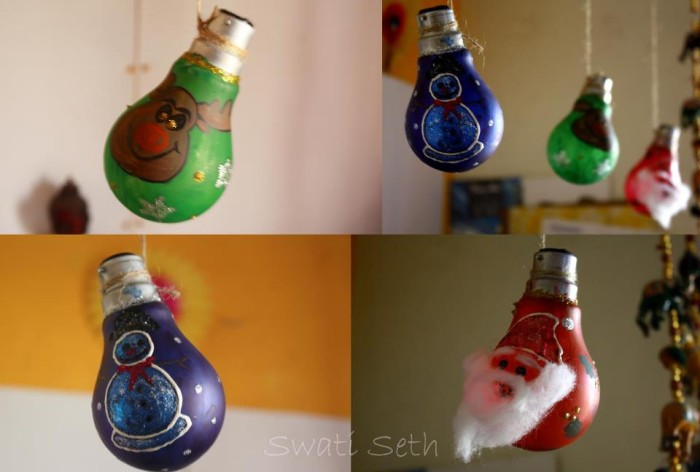 Recycled Light Bulbs Decor
